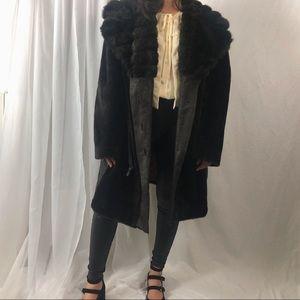 VINTAGE/ faux fur coat